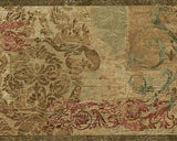 Chesapeake Open Spaces Contemporary Damask Scroll Wallpaper Border - OS24643B