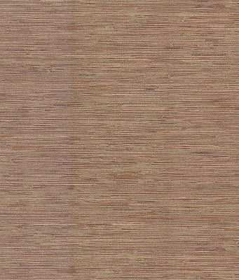 Brewster Burgundy & Gold Faux Grass Cloth Wallpaper - FD59639