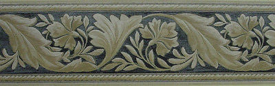 Sunworthy Textured Leaf Scroll Wallpaper Border - 51306090