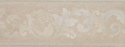 Brewster Satin Leaf Scroll Wallpaper Border - 323B28062