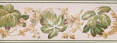 Fine Decor Leaf & Scroll Satin Wallpaper Border - FDB06958