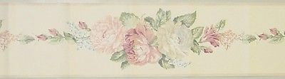 Eisenhart Pastel Floral Bouquet  Wallpaper Border - SSW12115