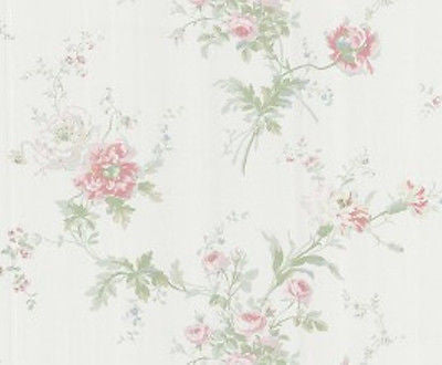 Chatham House Multi-Colored Floral & Stripe Wallpaper - 112-48374