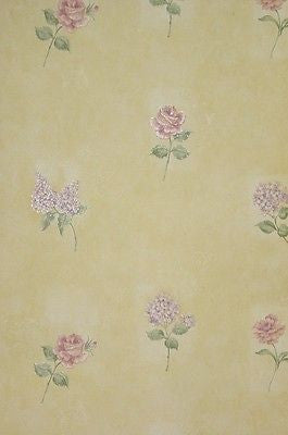 Parkview Designs Stem Floral Trail Hydrangea, Rose Wallpaper - 35055