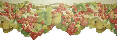 Tuscan Grape Vine and Fruit Wallpaper Border - 7245-860B
