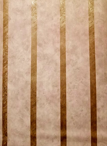 Fine Decor Gold/Grey Satin Stripe Wallpaper - 43366