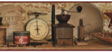 York Wallcoverings AC4397BD Country Keepsakes Country Coffee Border