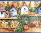 Gardening Shed Wallpaper Border - ACS59034B