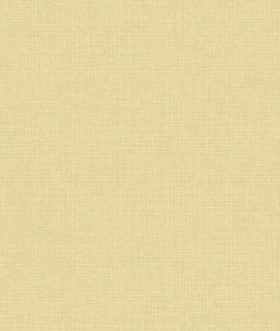 Asford House Golden Yellow Faux Linen Crosshatch Wallpaper - AT4206