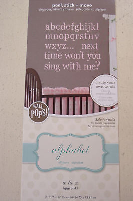 Alphabet a to z (gigi pink) Children's Wall Pops - WPA98843