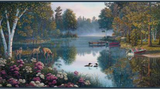 YORK WALLCOVERINGS LODGE DESIGNS MEDITATION LAKE BORDER - BP8378BD