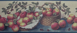 York, Apple Basket (blue/tan. red) Wallpaper Border - CB1045B