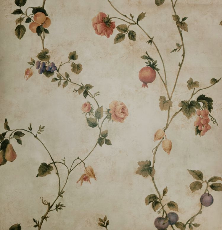 Becon House Rose/Fruit Scroll Wallpaper - FD59331