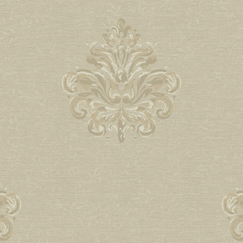 York Textured Graystone Estate Damask, Wallpaper - HD6937