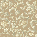 York Textured Graystone Estate Grand Hunt Scroll (Hazel Nut) Wallpaper - HD6966