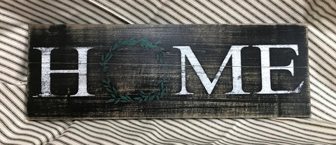 """Home"" Distressed Wooden Sign - 32718"