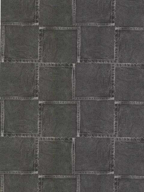 York Black Jean Pocket Wallpaper - IN2767