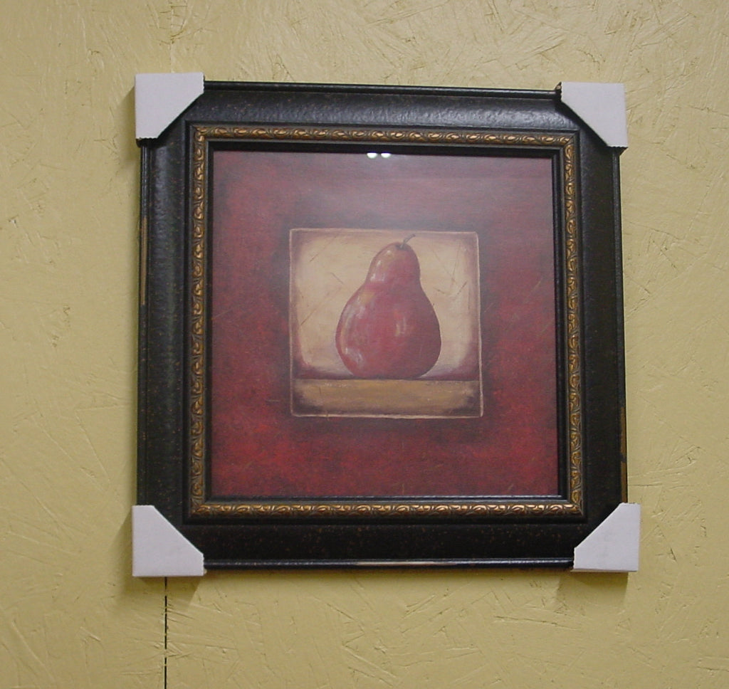 """Red"" Pear Print with Black Frame - JB84"