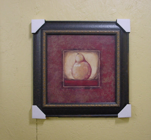 """Golden"" Pear Print with Black Frame - JB85"
