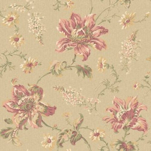 York Saphire Oasis Raised Floral Metallic Print Wallpaper - JR5754