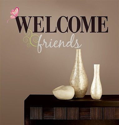 York Welcome Friends Peel & Stick Wall Decals - RMK1558SCS