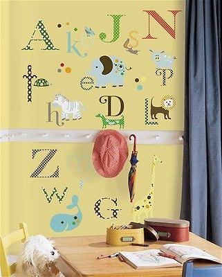 Room Mates Alphabet Dotted Peel & Stick Children's Wall Decals - RMK1440SCS