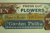 York Garden Signs (blue/gold/burgundy) Wallapaper Border - CN1155BD