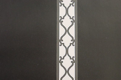 Brewster Black & White Damask Stripe Wallpaper - 75-62948