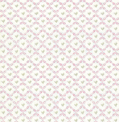 Pink Ribbon Lattice Wallpaper - FD64089
