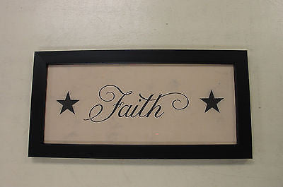 Primitive Tea Stained Faith w/stars Accent Picture - 20121