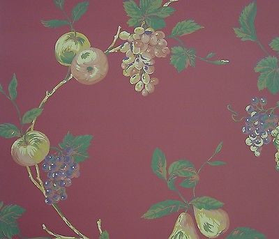 Beacon House Red Trailing Fruit Wallpaper - 64397