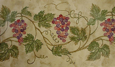 Imperial Raymond Waites Grape Vine Wallpaper Border - 30662110