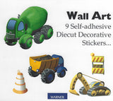 Warner Wallcoverings Construction Wall Art Stickers - KID5073
