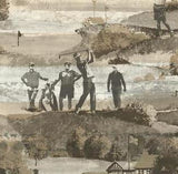 YORK, MENSWEAR THE OLD COURSE CAREY LIND DESIGNS WALLPAPER - MW9230