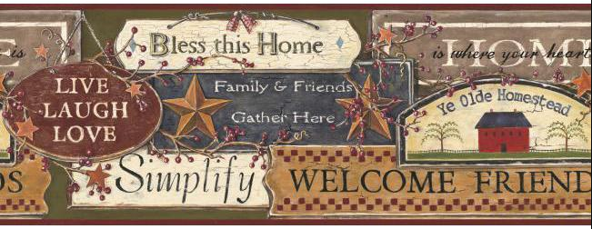 YORK WALLCOVERINGS BEST OF COUNTRY, COUNTRY SIGN BORDER - PC3976BD