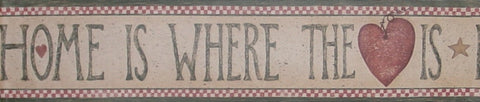 "York ""Home is where the Heart is"" Wallpaper Border - RD7340B"