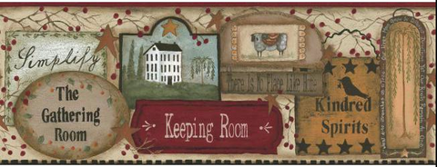York Wallcoverings The Gathering Room Wallpaper Border - RF3566BD