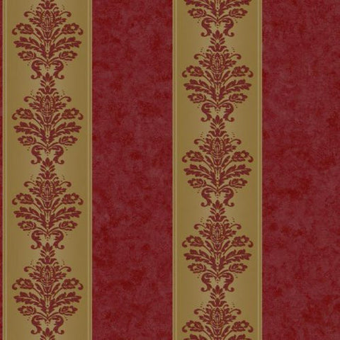 York Allure Damask Stripe Wallpaper - RL9549