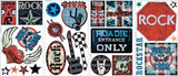 Boys Rock N Roll Peel & Stick Room Mates Wall Decals - RMK1563SCS