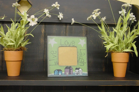 "Americana Live Love Laugh 6 3/8"" x 6 3/8"" (Green) Picture Frame - SC31"