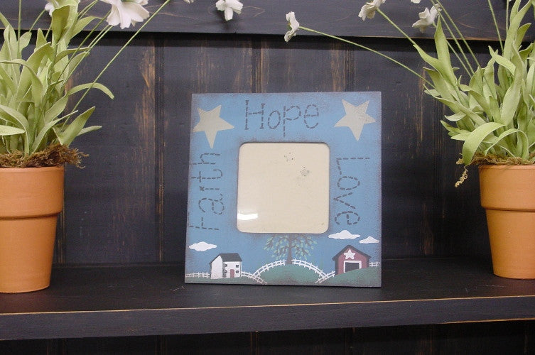 Faith Hope Love Small Picture Frame  - SC3