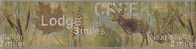 Brewster Lodge Creek Wallpaper Border - 418B80967