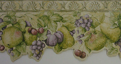 Norwall Mixed Fruit Wallpaper Border - KB75524DC