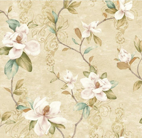 YORK WALLCOVERINGS CHARLOTTE MAGNOLIA TRAIL WALLPAPER - TB4203