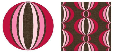 Brewster Loopy red/pink Wall Pops