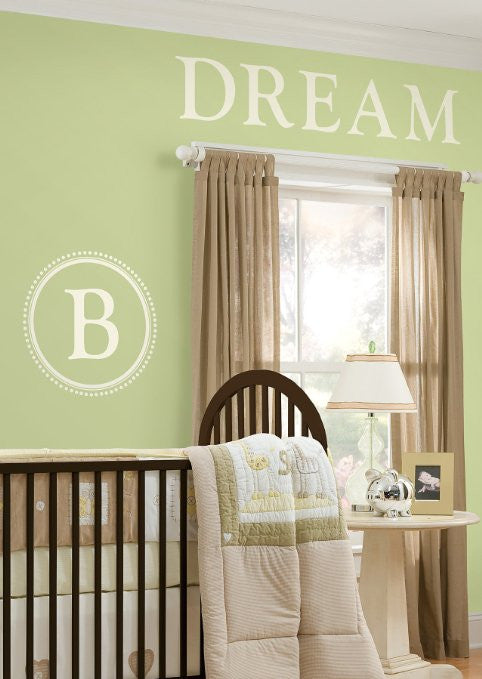 Durham Monogram & Alphabet - Ivory white Wall Pops Wall Decals - WPM99282
