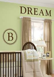 Durham Monogram & Alphabet - Espresso Brown Wall Pop Wall Decals - WPM99283