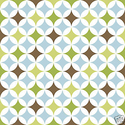 Brewster Geo (green/brown/blue/whtie) 4 blox Wall Pops - WPB93860