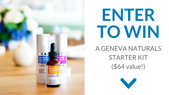 Enter to win a full set of Advanced Luxury Skin Care- Geneva Naturals