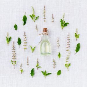 oil surrounded by natural herbs